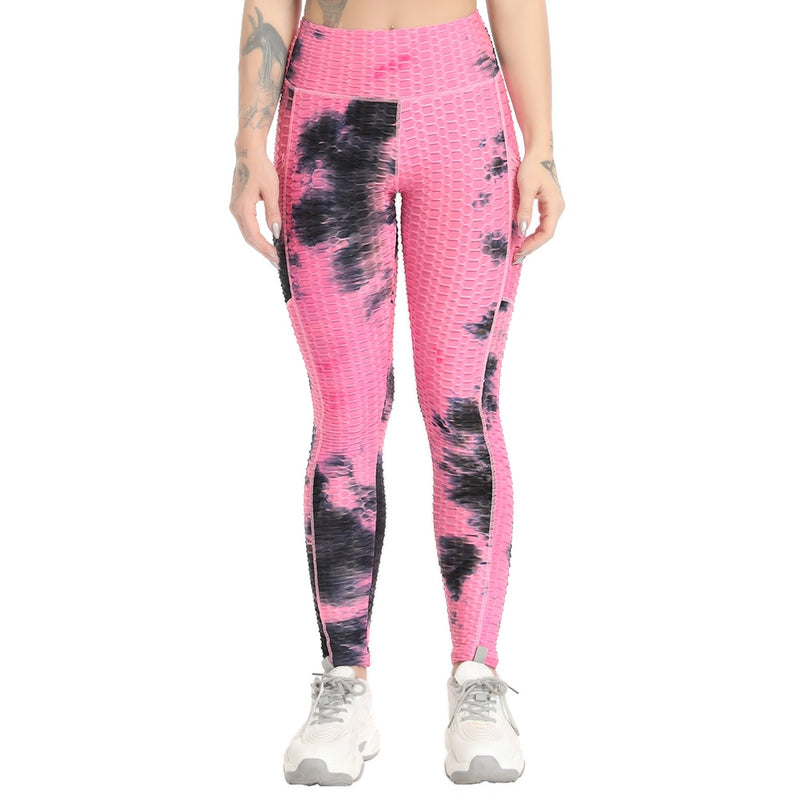 Blossom® Tie-Dye Legging With Pockets - Electric Pink