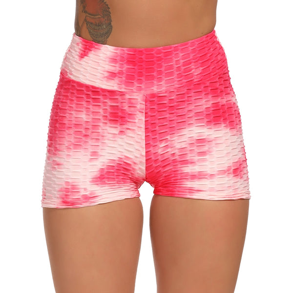 Blossom® Tie-Dye Lifting Shorts - Strawberry Passion