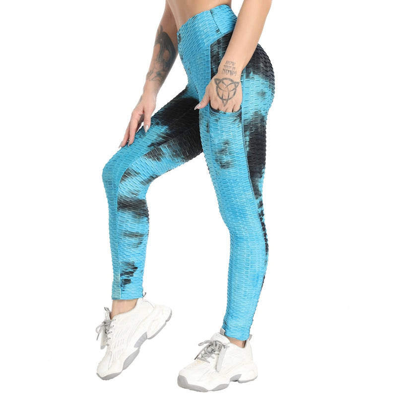 Blossom® Tie-Dye Legging With Pockets - Electric Blue
