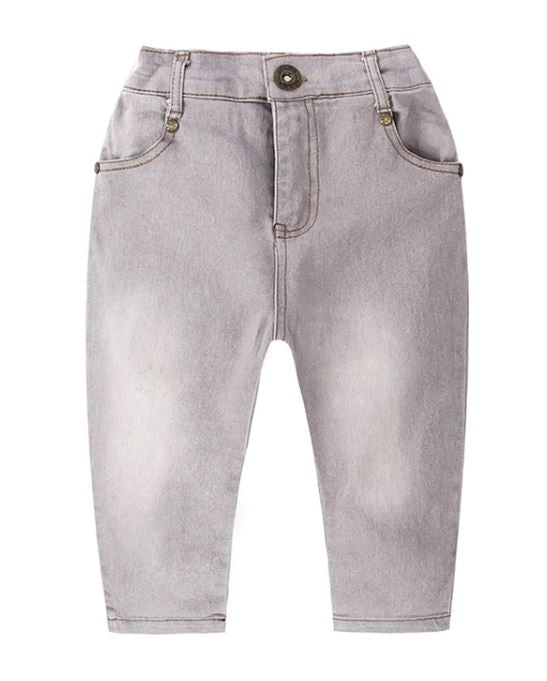 Grey Fitted Toddler Jeans