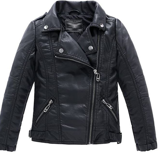 Kids Black Moto Jacket