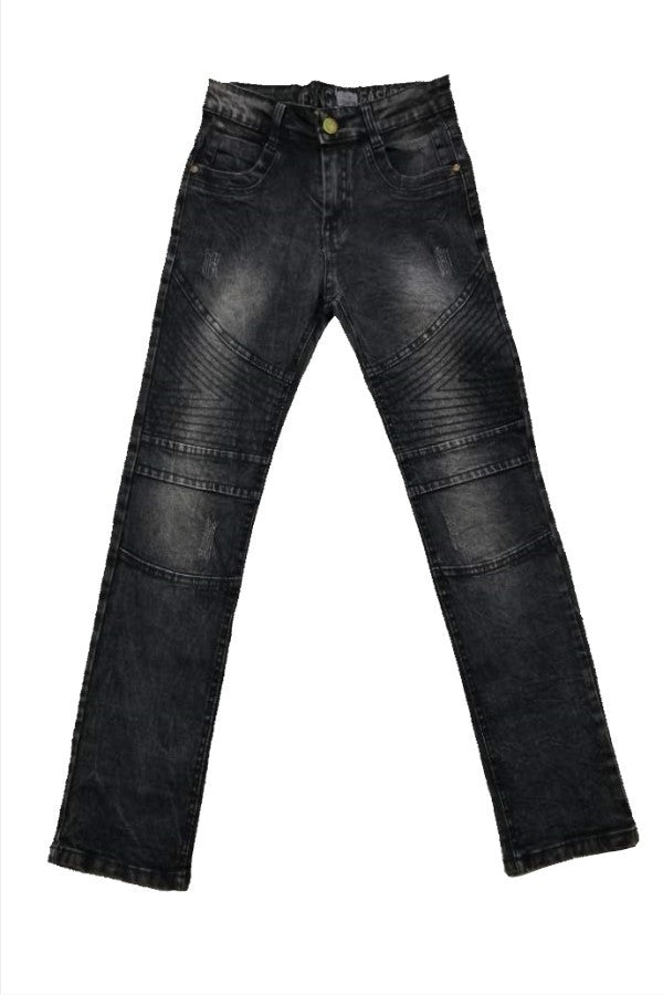 Black Washed Denim Jeans