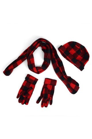 Junior Mad About Plaid Gloves, Scarves and Hats
