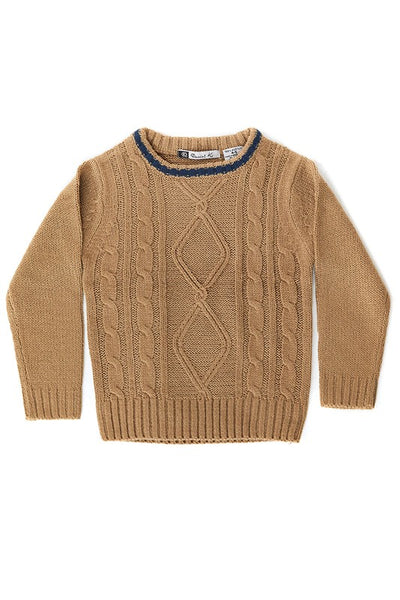Cable Knit Crewneck Sweaters