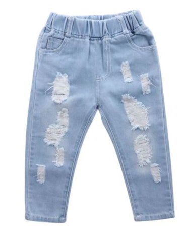 Distressed Light Wash Toddler Jeans