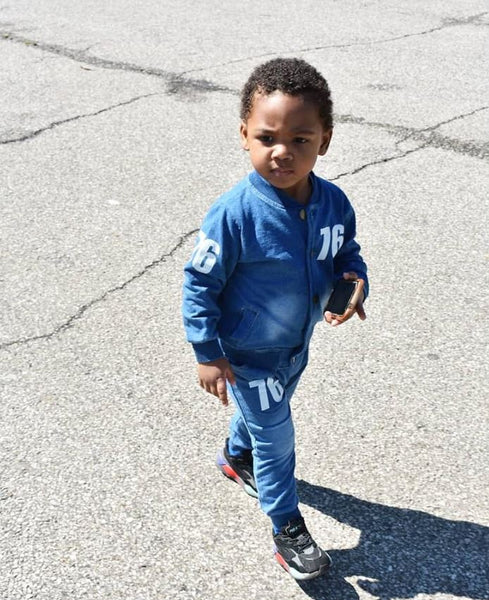 Denim Toddler Jogger Set