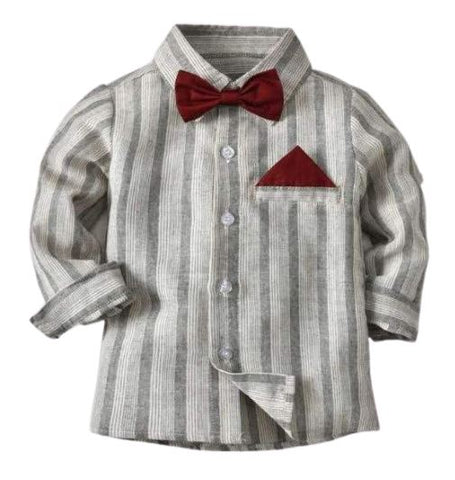 Bow Tie Toddler Striped Shirt