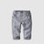 Grey Pinstripe Cuff Toddler Pants