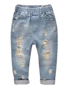 Distress Dark Wash Toddler Jeans