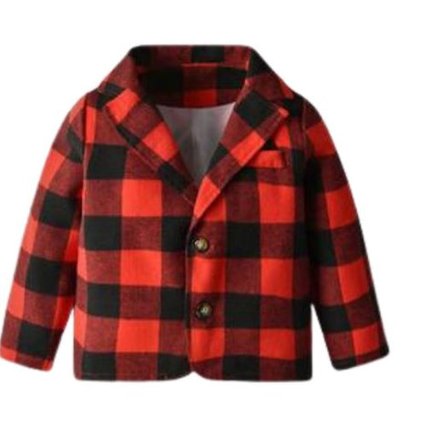 It's Plaid All Day Toddler Blazer