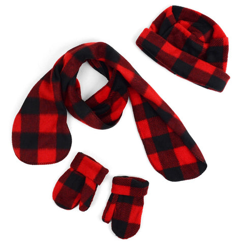 Toddler Mad About Plaid Mittens, Scarves, and Hats