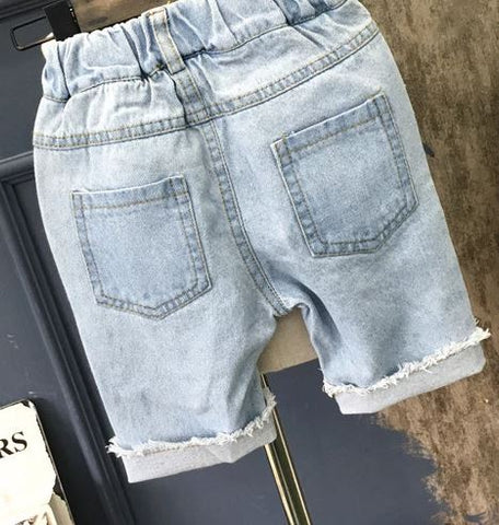 Toddler Denim Cut Off Shorts