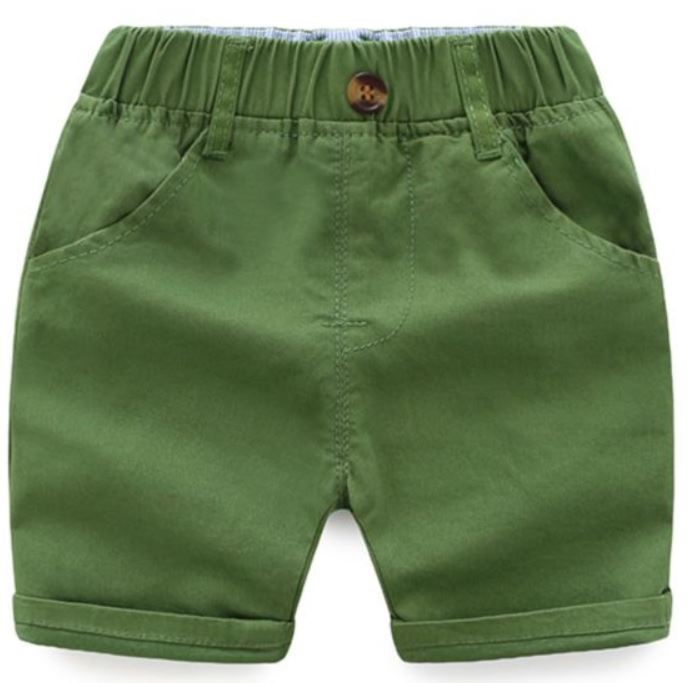 Toddler Olive Cargo Shorts