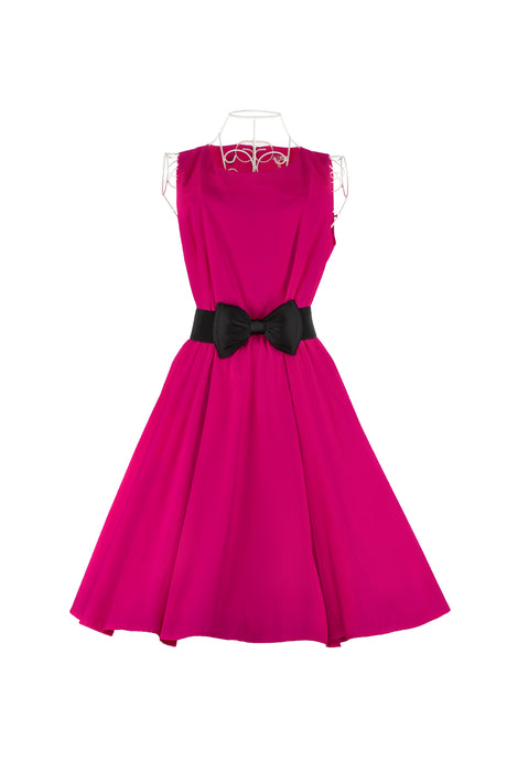 Party dress with petticoat and belt