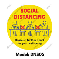DNS05 - Social Distancing Do Not Sit Here Round [SG Ready Stock] - Awesomedia Pte Ltd