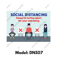 DNS07 - Social Distancing Sticker [SG Ready Stock] - Awesomedia Pte Ltd