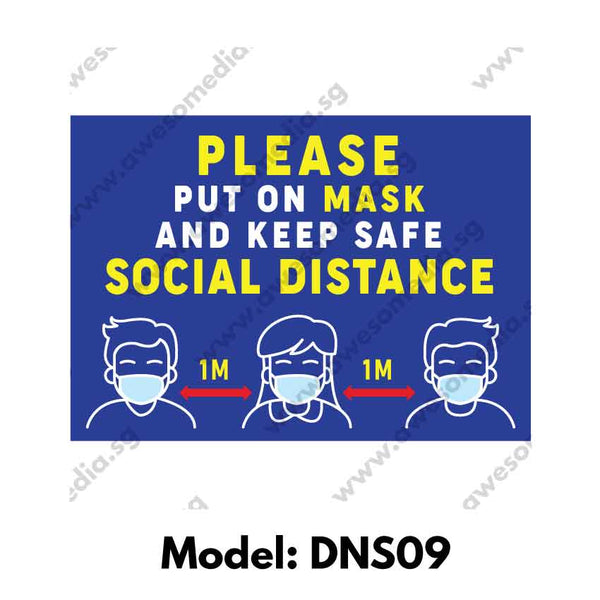 DNS09 - Social Distancing Sticker [SG Ready Stock] - Awesomedia Pte Ltd