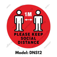 DNS12 - Social Distancing Round [SG Ready Stock] - Awesomedia Pte Ltd