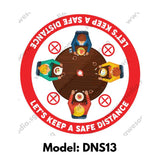 DNS13 - Social Distancing Round [SG Ready Stock] - Awesomedia Pte Ltd