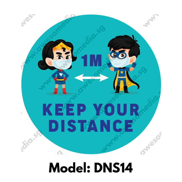 DNS14 - Social Distancing Round [SG Ready Stock] - Awesomedia Pte Ltd