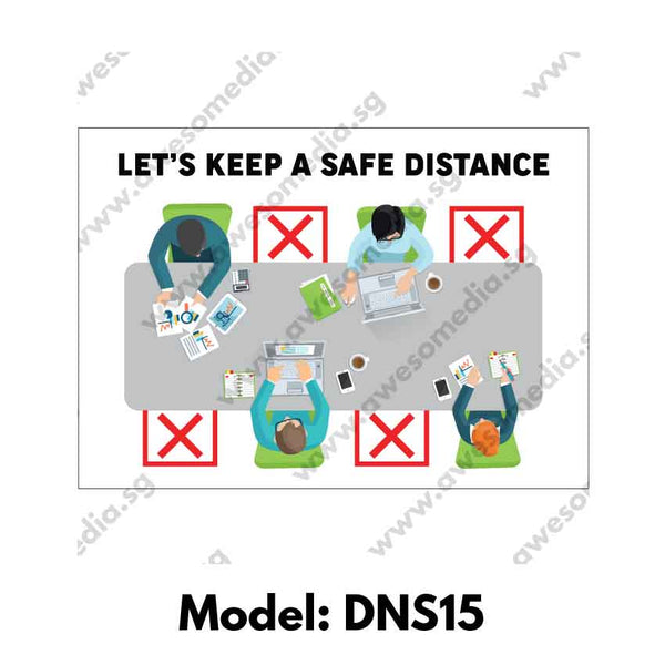 DNS15 - Social Distancing Sticker [SG Ready Stock] - Awesomedia Pte Ltd
