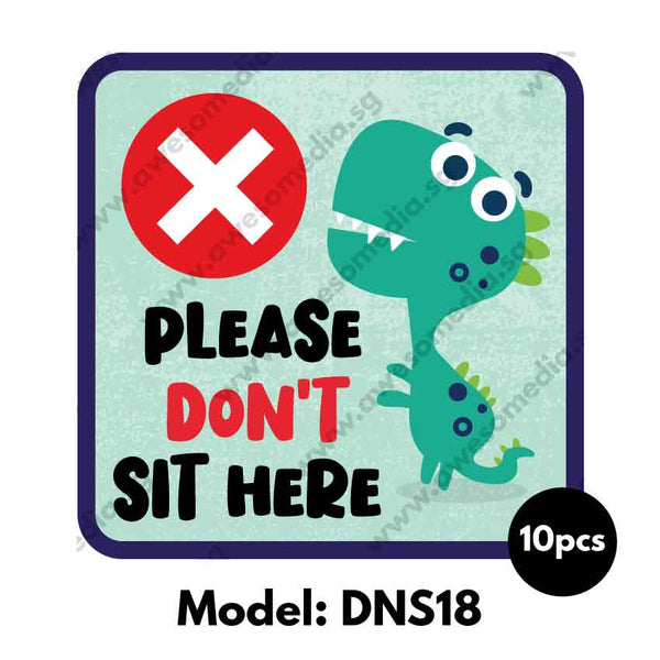 DNS18 - Preschool Do Not Sit Here Sticker - Awesomedia Pte Ltd