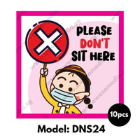 DNS24 - Preschool Do Not Sit Here Sticker - Awesomedia Pte Ltd
