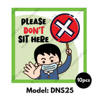 DNS25 - Preschool Do Not Sit Here Sticker - Awesomedia Pte Ltd