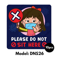 DNS26 - Preschool Do Not Sit Here Sticker - Awesomedia Pte Ltd