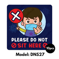 DNS27 - Preschool Do Not Sit Here Sticker - Awesomedia Pte Ltd