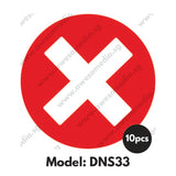DNS33 - Do Not Sit Here Sticker - Awesomedia Pte Ltd