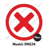 DNS34 - Do Not Sit Here Sticker - Awesomedia Pte Ltd