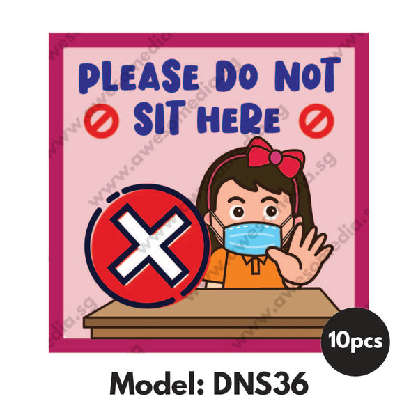 DNS36 - Preschool Do Not Sit Here Sticker - Awesomedia Pte Ltd
