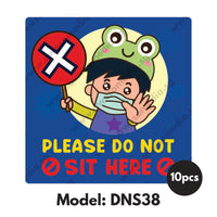 DNS38 - Preschool Do Not Sit Here Sticker - Awesomedia Pte Ltd