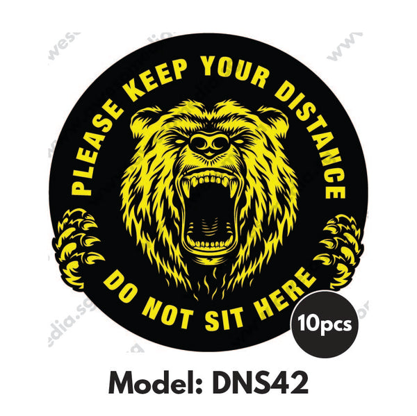 DNS42 - Gym Room Do Not Sit Here Sticker - Awesomedia Pte Ltd
