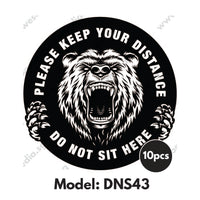 DNS43 - Gym Room Do Not Sit Here Sticker - Awesomedia Pte Ltd