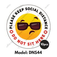 DNS44 - Do Not Sit Here Sticker - Awesomedia Pte Ltd