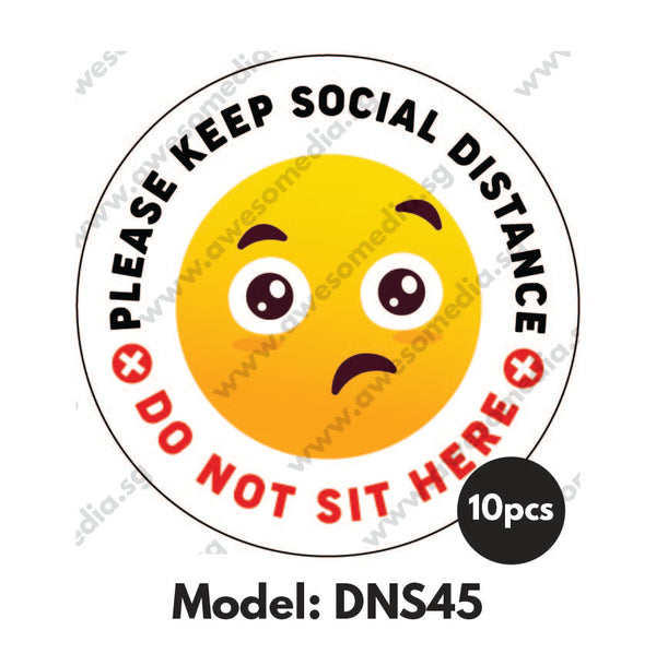 DNS45 - Do Not Sit Here Sticker - Awesomedia Pte Ltd