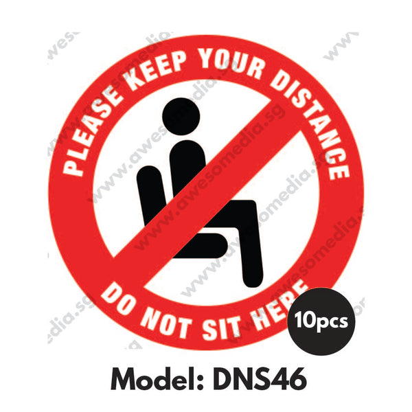 DNS46 - Do Not Sit Here Sticker - Awesomedia Pte Ltd