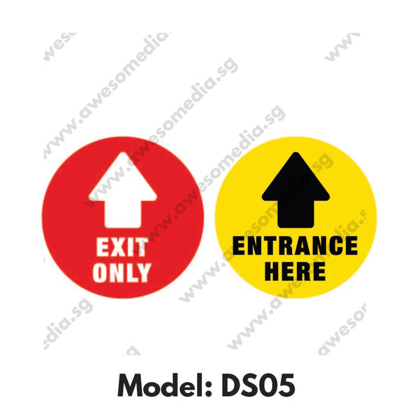 DS05 - Direction SIgn Social Distancing Floor Sticker [SG Ready Stock] - Awesomedia Pte Ltd