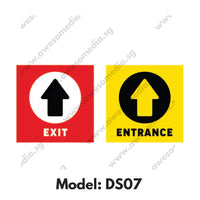 DS07 - Direction Sign Social Distancing Floor Sticker [SG Ready Stock] - Awesomedia Pte Ltd