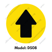 DS08 - Direction Sign Social Distancing Floor Sticker [SG Ready Stock] - Awesomedia Pte Ltd