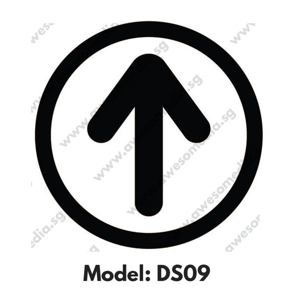 DS09 - Direction Sign Social Distancing Floor Sticker [SG Ready Stock] - Awesomedia Pte Ltd