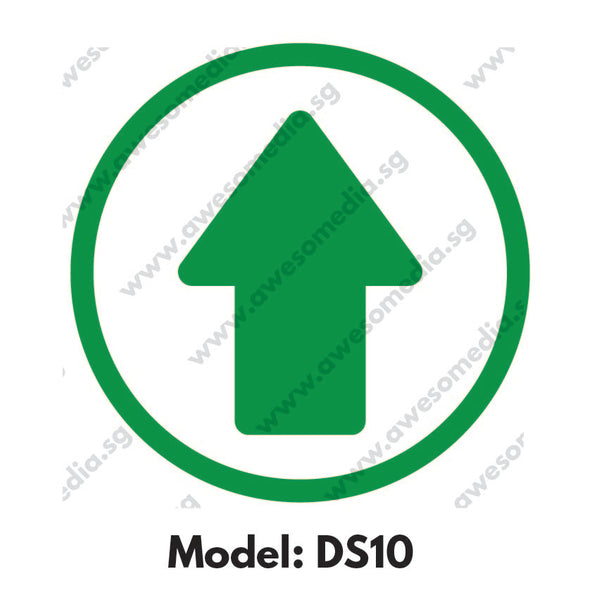 DS10 - Direction Sign Social Distancing Floor Sticker [SG Ready Stock] - Awesomedia Pte Ltd