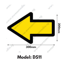 DS11 - Directional Sign Floor Sticker [SG Ready Stock] - Awesomedia Pte Ltd