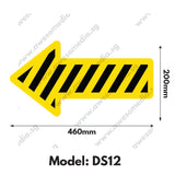 DS12 - Directional Sign Floor Sticker [SG Ready Stock] - Awesomedia Pte Ltd