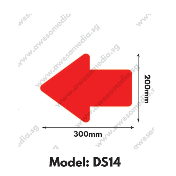 DS14 - Directional Sign Floor Sticker [SG Ready Stock] - Awesomedia Pte Ltd