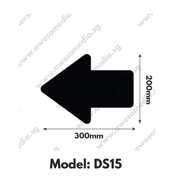 DS15 - Directional Sign Floor Sticker [SG Ready Stock] - Awesomedia Pte Ltd