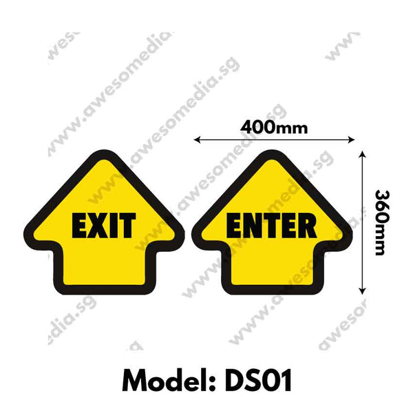 DS01 - Directional Sign Floor Sticker [SG Ready Stock] - Awesomedia Pte Ltd