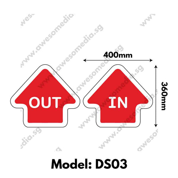 DS03 - Directional Sign Floor Sticker [SG Ready Stock] - Awesomedia Pte Ltd